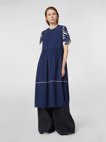 Marni Empire-cut dress in washed crepe Woman