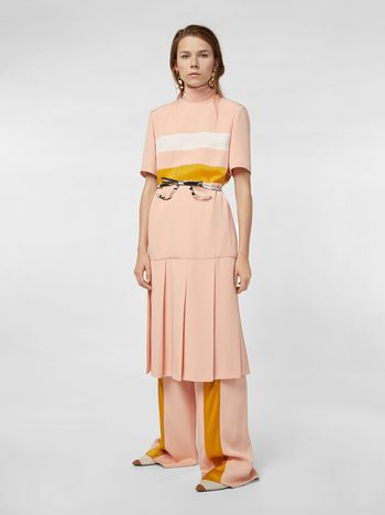 Marni Dress in bi-crepe cady with contrast bands  Woman