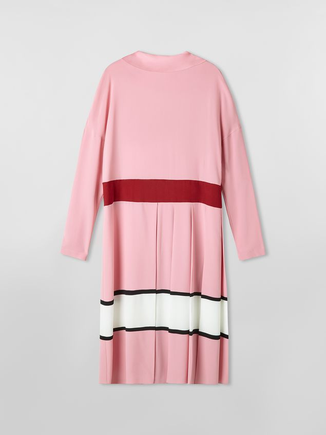 Marni Dress in washed crepe with pleated bottom Woman - 2
