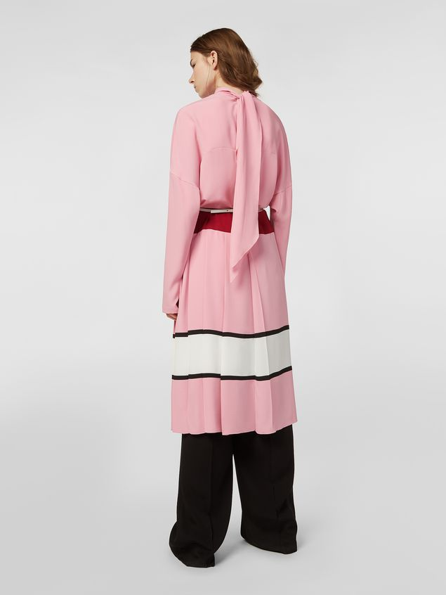 Marni Dress in washed crepe with pleated bottom Woman - 3