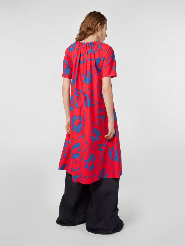Marni Dress in poplin with Belou print Woman
