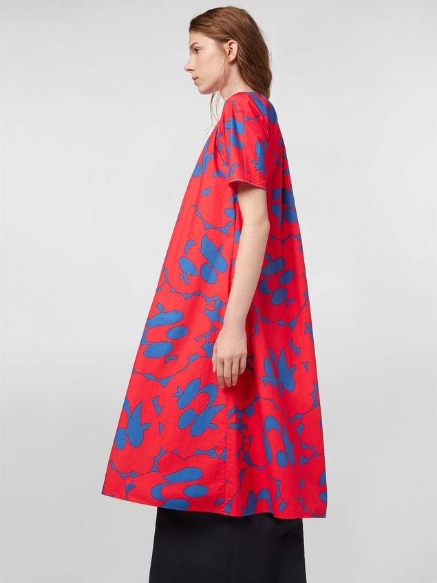 Marni Dress in poplin with Belou print Woman - 5