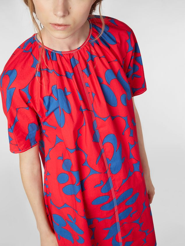 Marni Dress in poplin with Belou print Woman - 4