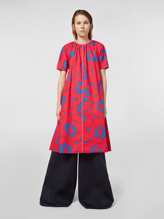 Marni Dress in poplin with Belou print Woman - 1