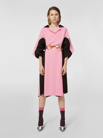 Marni Bi-colored dress in cotton and linen drill Woman