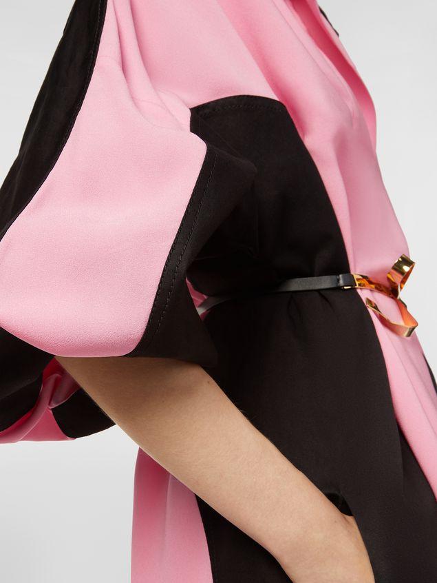Marni Bi-colored dress in cotton and linen drill Woman - 4