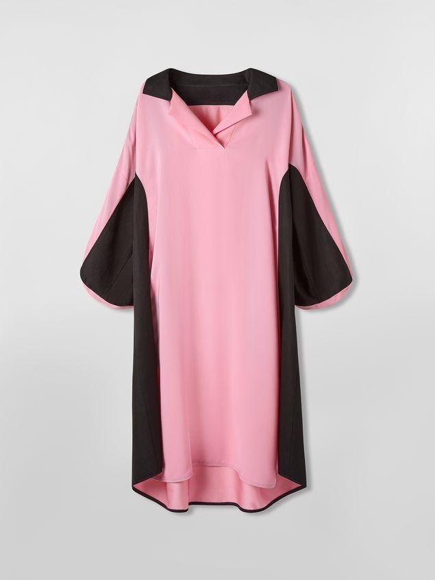 Marni Bi-colored dress in cotton and linen drill Woman - 2