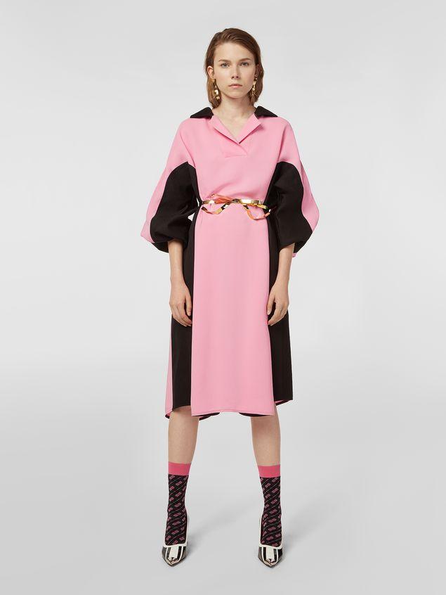 Marni Bi-colored dress in cotton and linen drill Woman - 1