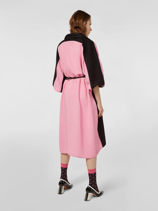 Marni Bi-colored dress in cotton and linen drill Woman - 3