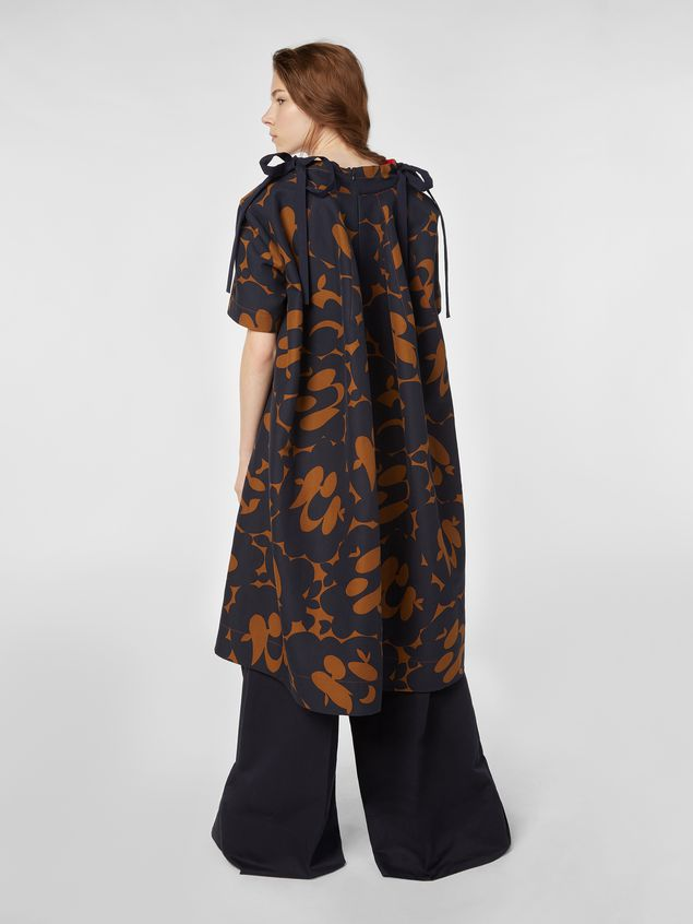 Marni Dress in cotton cady with Belou print Woman