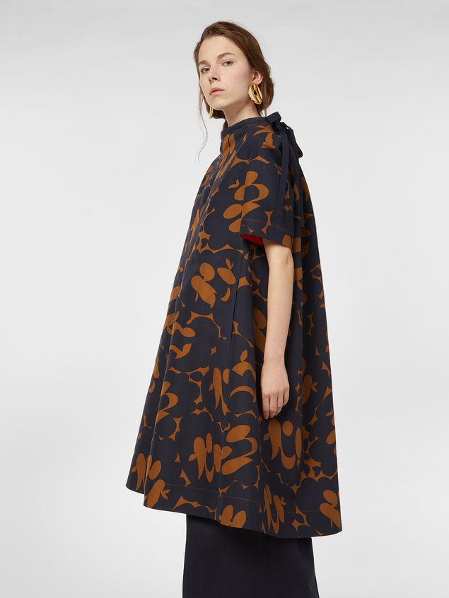 Marni Dress in cotton cady with Belou print Woman - 5