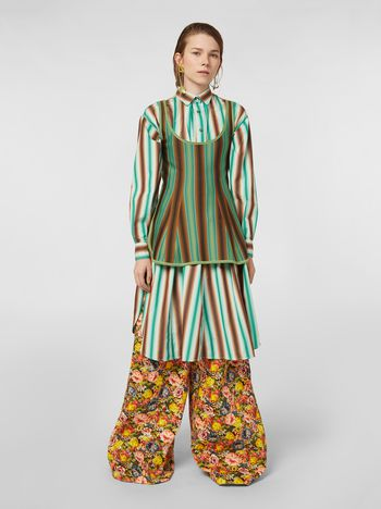 Marni Faded striped cotton dress Woman