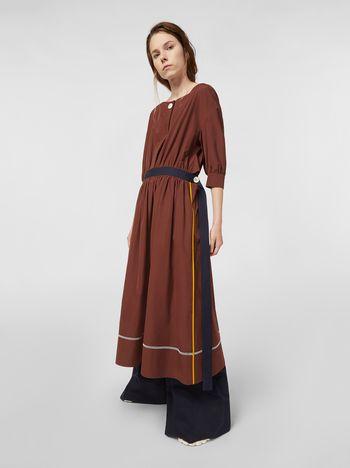 Marni Poplin dress with horn buttons Woman