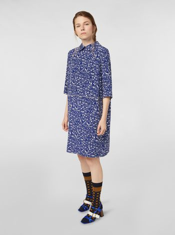 Marni Silk crepe dress with Lylee print Woman