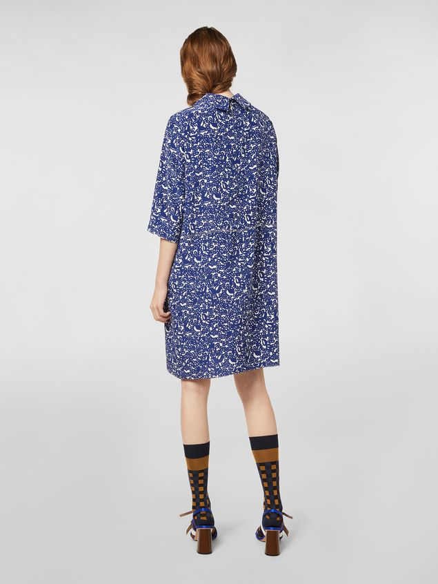 Marni Silk crepe dress with Lylee print Woman - 3