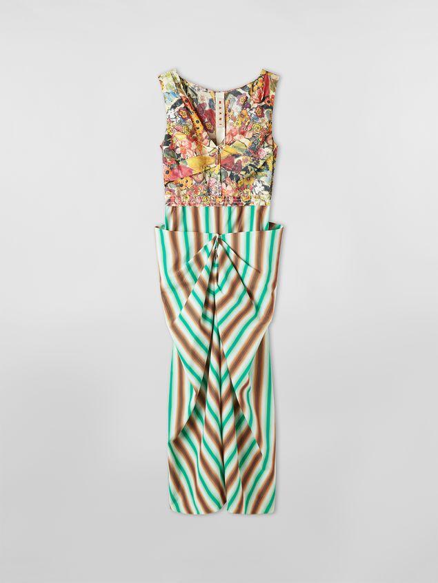 Marni V-neck dress in faded striped cotton Woman - 2