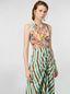 Marni V-neck dress in faded striped cotton Woman - 5
