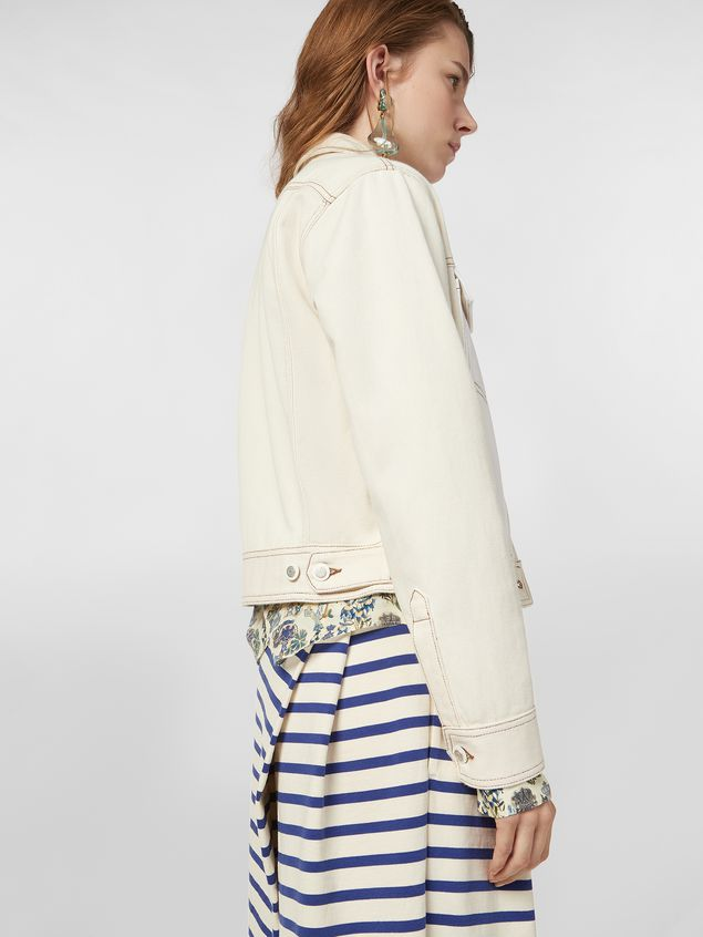 Marni Raw cotton drill jacket Woman - 5