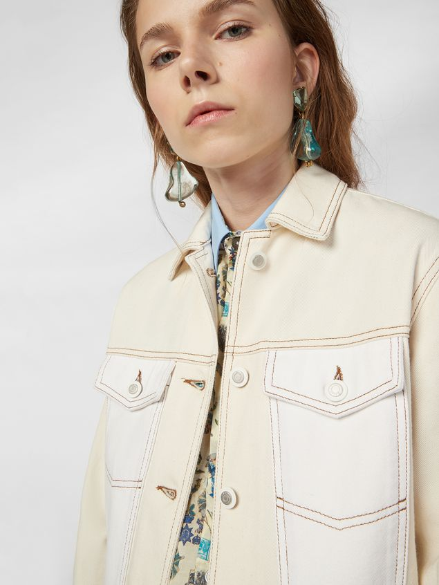 Marni Raw cotton drill jacket Woman - 4