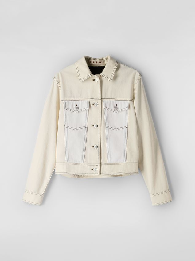 Marni Raw cotton drill jacket Woman - 2