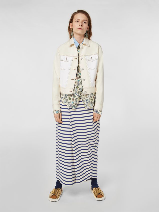 Marni Raw cotton drill jacket Woman - 1
