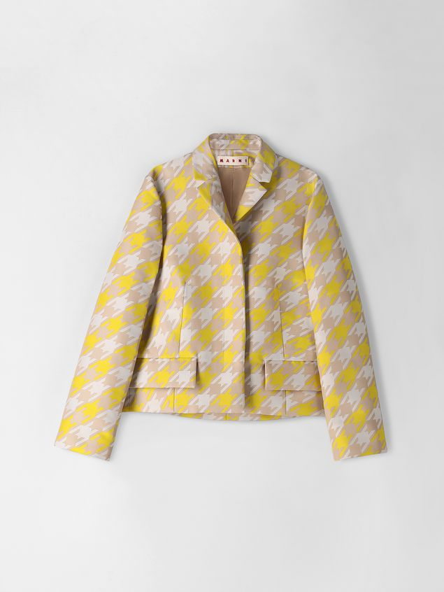 Marni Jacket in macro Houndstooth techno fabric  Woman - 2