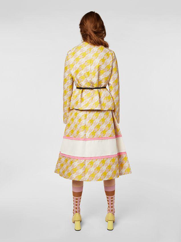Marni Jacket in macro Houndstooth techno fabric  Woman - 3