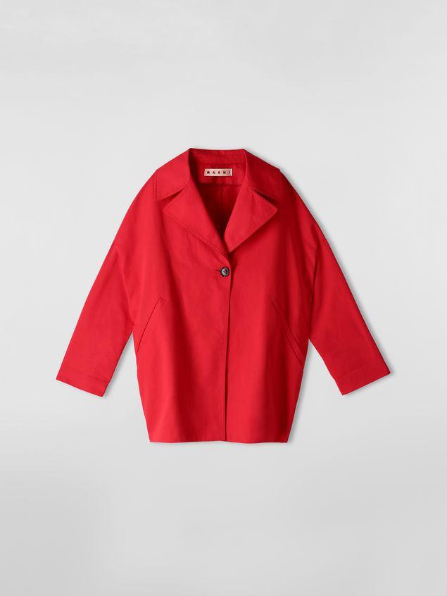 Marni Kimono jacket in cotton and linen drill Woman - 2