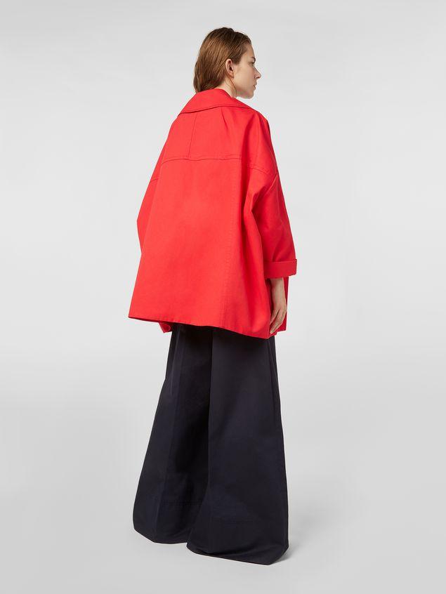 Marni Kimono jacket in cotton and linen drill Woman - 3
