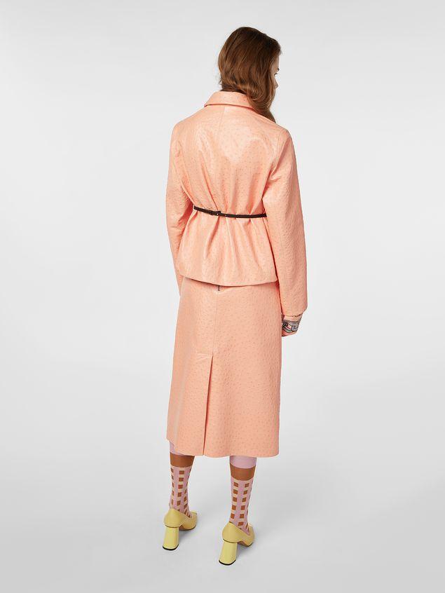 Marni Jacket in ostrich-print nappa lambskin Woman
