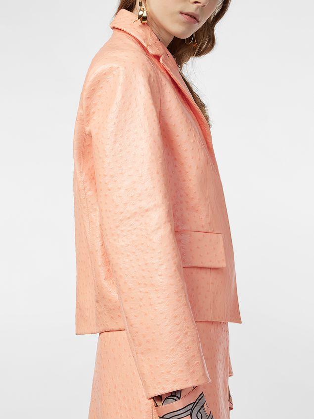 Marni Jacket in ostrich-print nappa lambskin Woman - 5