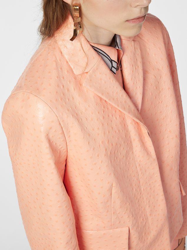 Marni Jacket in ostrich-print nappa lambskin Woman - 4