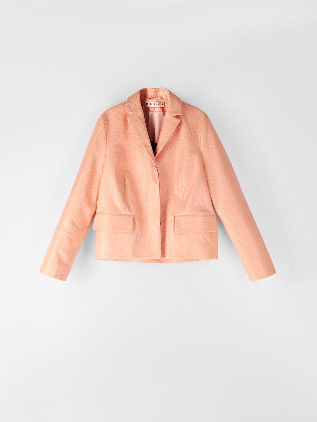 Marni Jacket in ostrich-print nappa lambskin Woman - 2