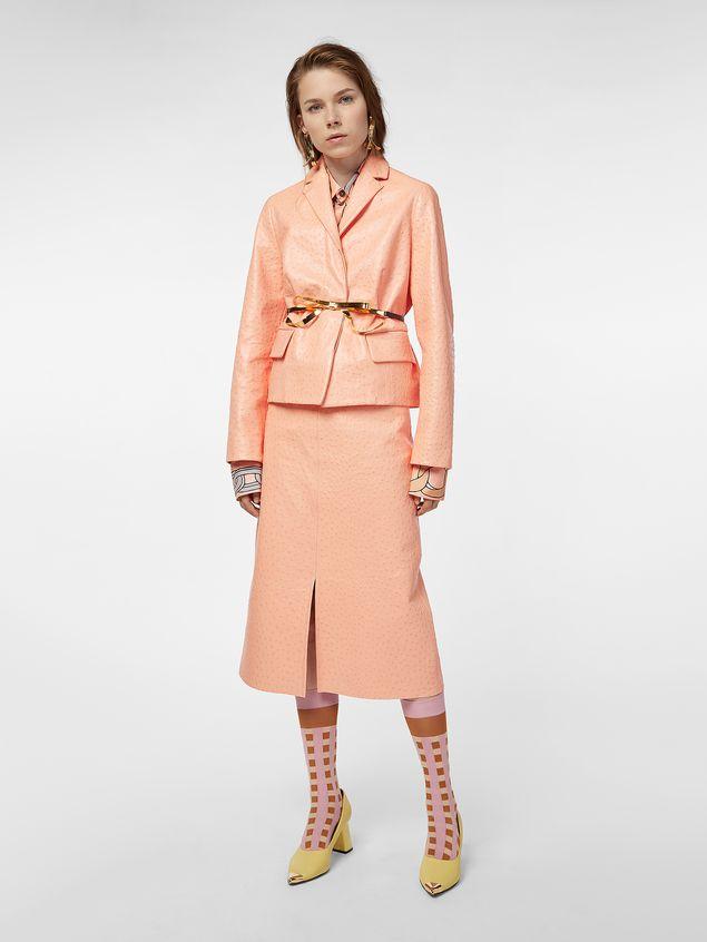 Marni Jacket in ostrich-print nappa lambskin Woman - 1