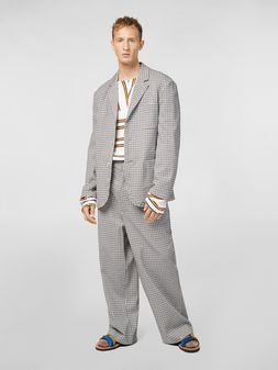 Marni 3-button jacket in micro check jacquard Man