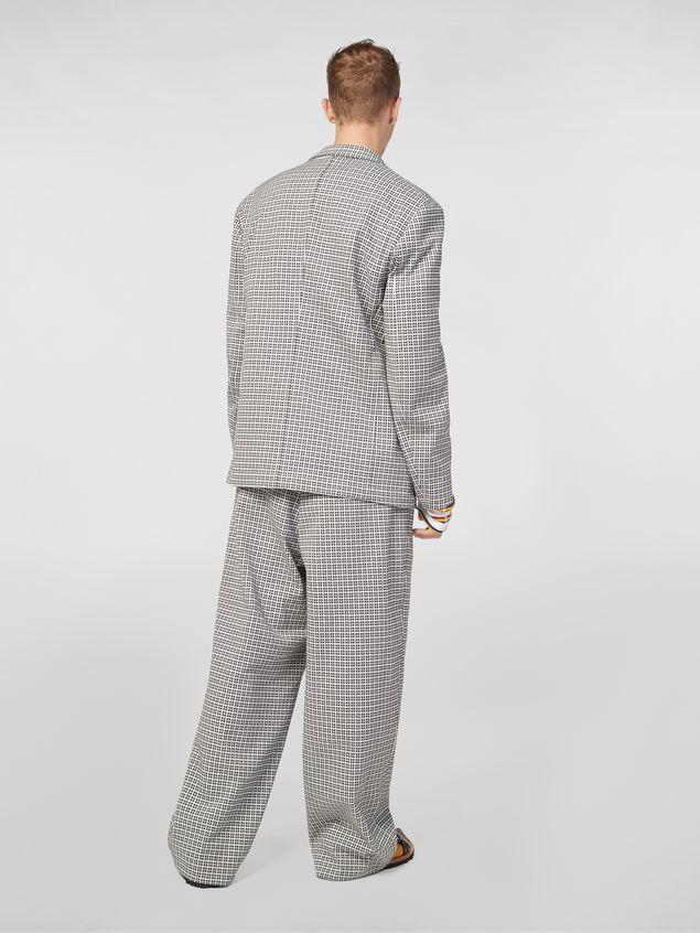 Marni 3-button jacket in micro check jacquard Man