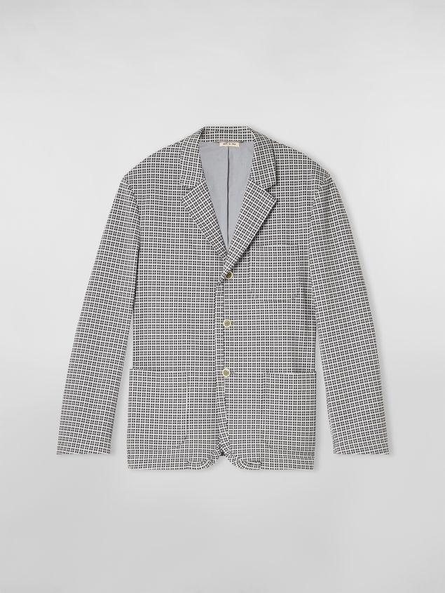 Marni 3-button jacket in micro check jacquard Man - 2