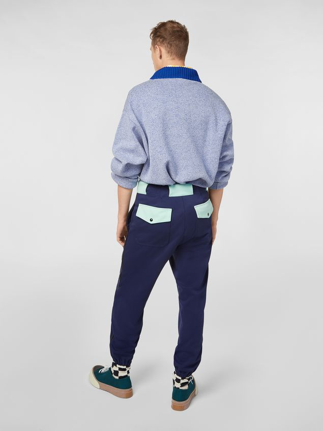 Marni Jacket in techno cotton with patch Man