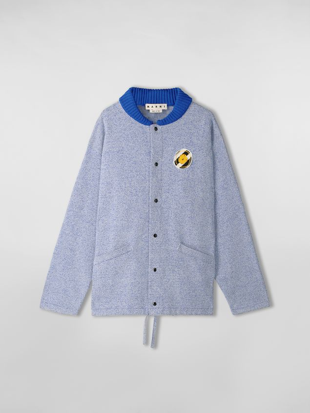 Marni Jacket in techno cotton with patch Man - 2