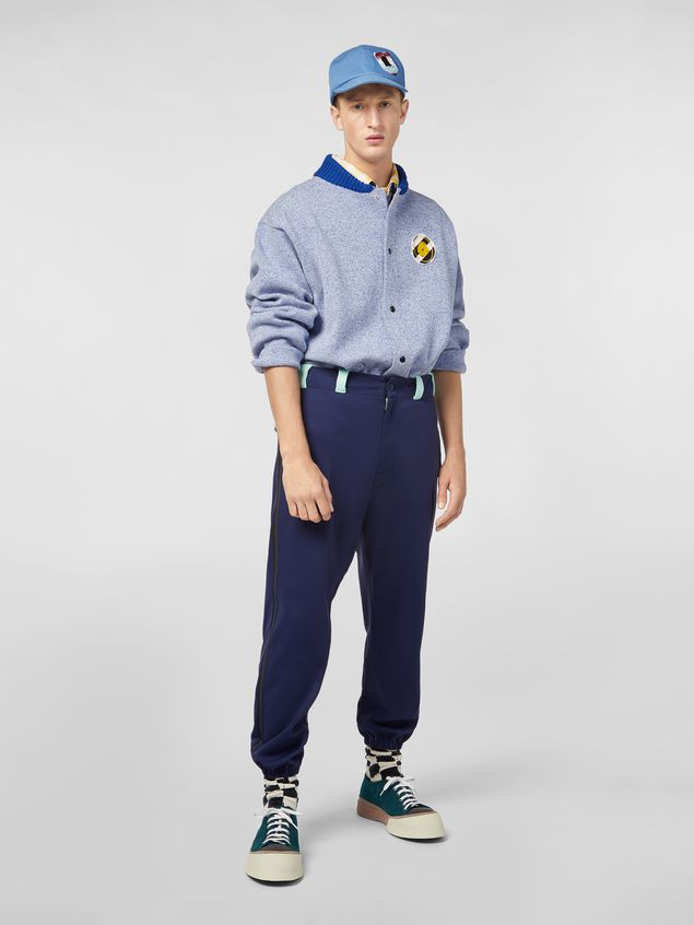 Marni Jacket in techno cotton with patch Man - 1