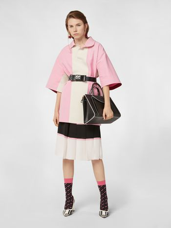 Marni Kimono-sleeved tunic in cotton cady Woman