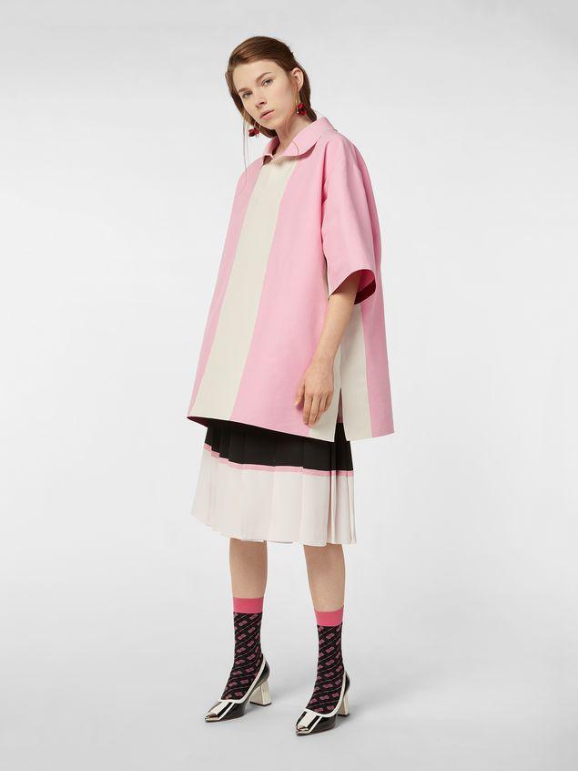 Marni Kimono-sleeved tunic in cotton cady Woman - 5