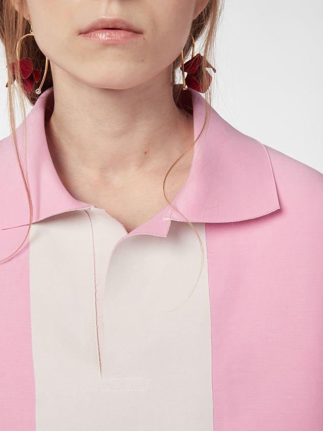 Marni Kimono-sleeved tunic in cotton cady Woman - 4