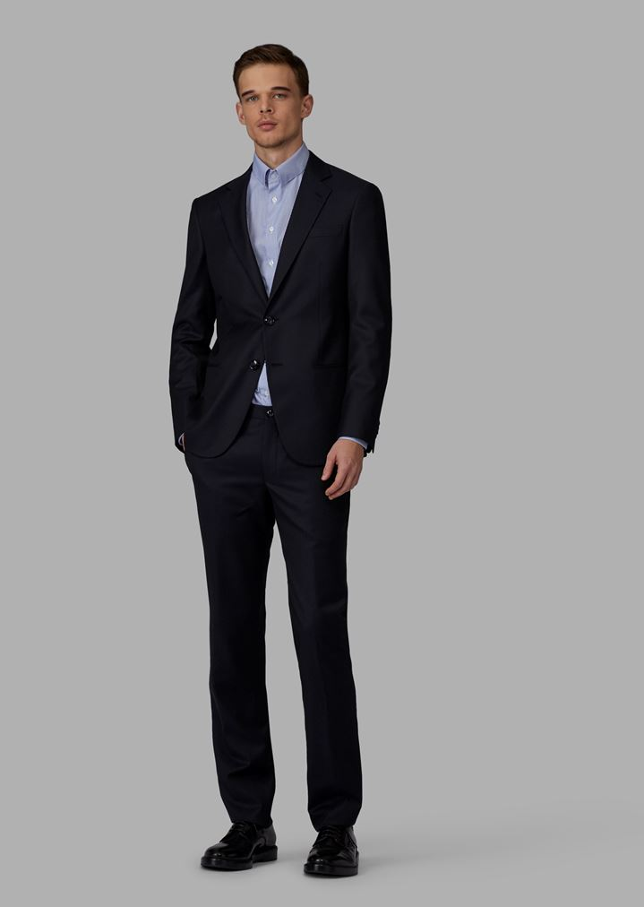 b7c151c20891 Abito Linea Soho slim fit half canvas in saglia intrecciata