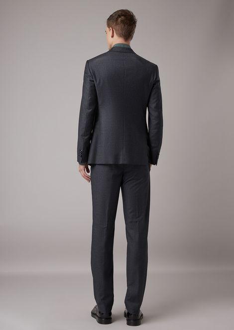 Slim-fit half-canvas woven twill Soho suit