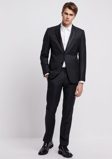 6f2cc32452ffb0 Tuxedo in super 130's pure virgin wool