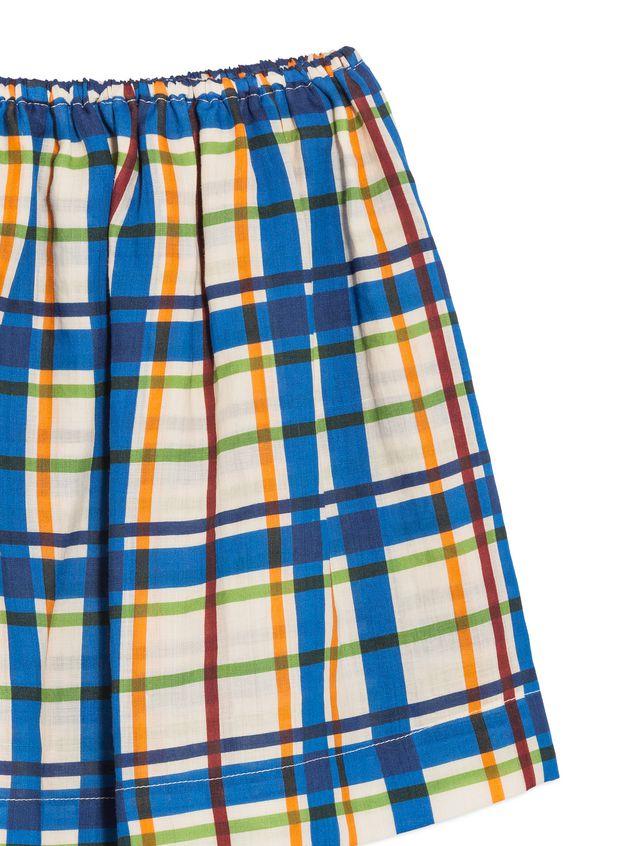 Marni ラミーファブリック スカート オールオーバーチェックプリント レディース - 4