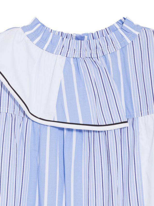 Marni LONG-SLEEVES DRESS IN DEGRADEE STRIPES COTTON POPELINE  Woman - 4