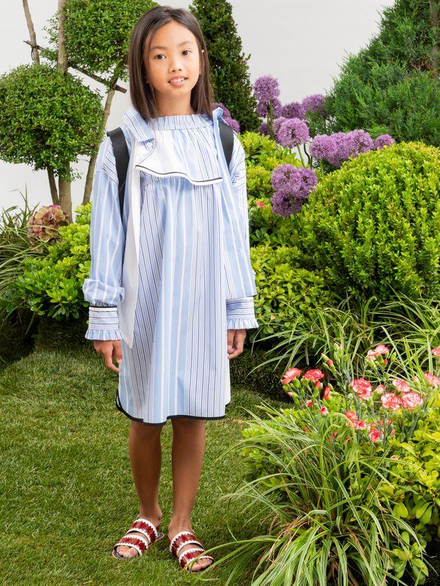 Marni LONG-SLEEVES DRESS IN DEGRADEE STRIPES COTTON POPELINE  Woman - 2