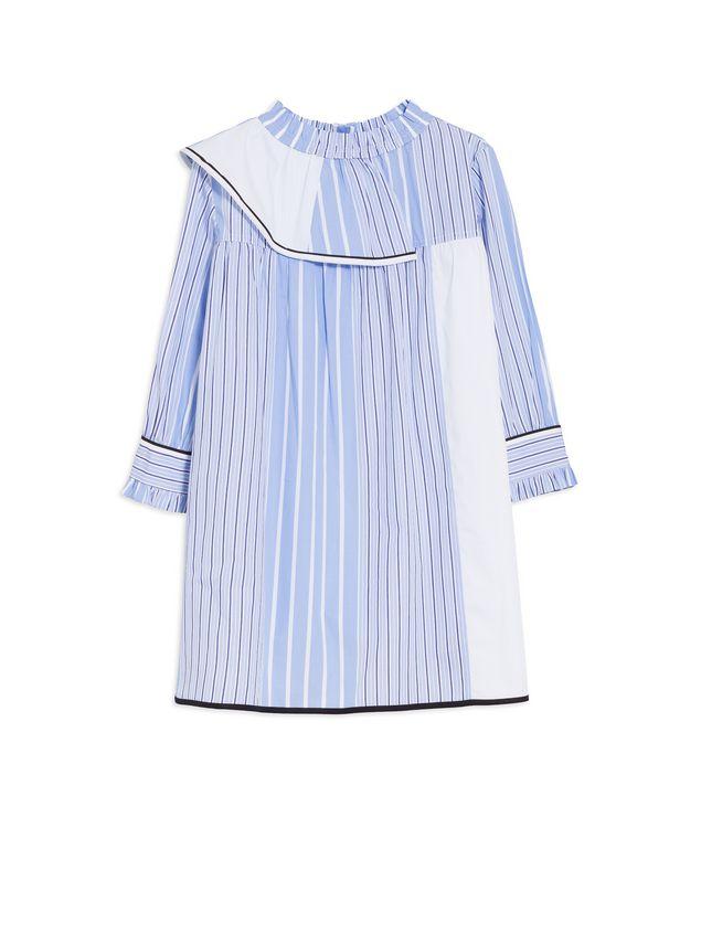 Marni LONG-SLEEVES DRESS IN DEGRADEE STRIPES COTTON POPELINE  Woman - 1